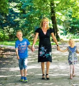 Sabine met kinderen